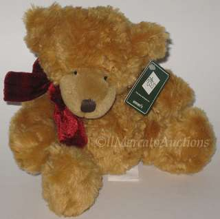 RUSS Berrie HONEY 20881 Plush Brown Teddy Bear Doll Bow Stuffed Animal
