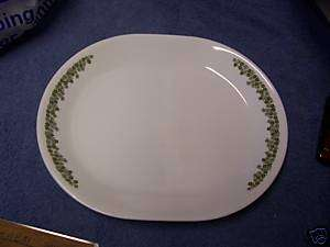 Corelle Spring Blossom Green Daisies Oval Serving Platter