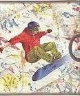 EXTREME SPORTS WALL BORDER Bike Skateboard BMX Decor