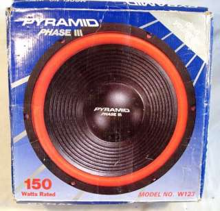 NOS Pyramid Phase III W123 12 Car Subwoofer Speaker A+