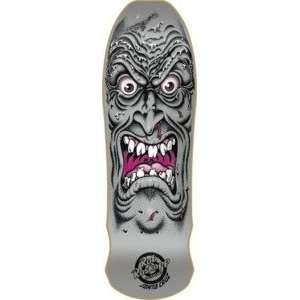 Santa Cruz Roskopp Face Silver Reissue Skateboard Deck