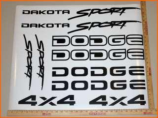 Dodge Dakota Sport 4x4   Vinyl Decal Sticker Set