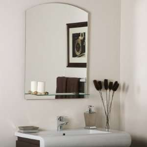 SSM101 Frameless Arch Wall Mirror, Etched Glass